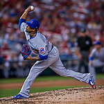 7 October 2017: Chicago Cubs pitcher Pedro Strop on the mound against the Washington Nationals at Nationals Park in Washington, DC. The Nationals defeated the Cubs 6-3 and even their best of five Postseason series at one game apiece. Mandatory Credit: Ed Wolfstein Photo *** RAW (NEF) Image File Available ***