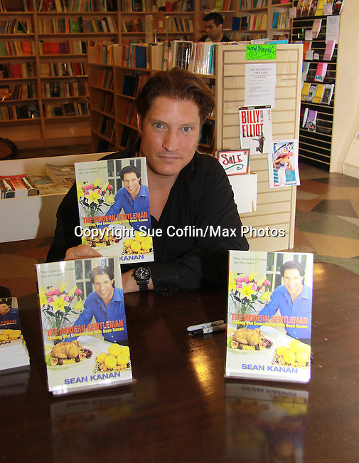 "The Young and The Restless Sean Kanan ""Deacon"" held a book signing on September 15, 2011 for his new book ""The Modern Gentleman - Cooking and Entertaining with Sean Kanan"" at the Drama Book Shop, New York City, New York. ""Don't just set the table, set the mood.""  In this book ""Sean Kanan, author, actor, producer and self-taught chef offers expert field-tested instruction on how any guy can become a refined, knowledgeable chef."" (Photo by Sue Coflin/Max Photos)"