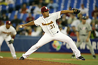 March 8, 2009:  Pitcher Victor Zambrano (31) of Venezuela during the first round of the World Baseball Classic at the Rogers Centre in Toronto, Ontario, Canada.  Venezuela lost to Team USA 15-6 in both teams second game of the tournament.  Photo by:  Mike Janes/Four Seam Images
