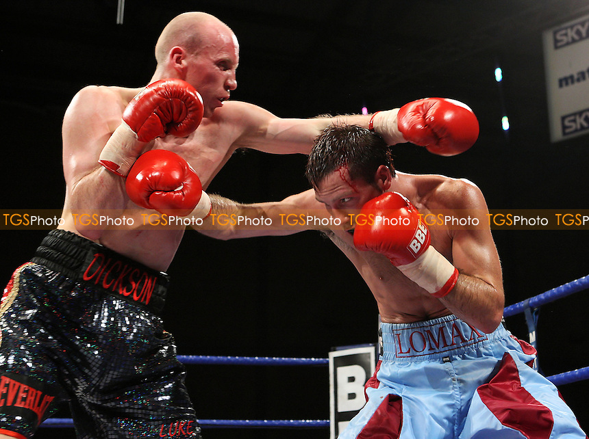 Michael Lomax (Chingford, blue shorts) defeats Craig Dickson (Glasgow, black shorts) in a Welterweight contest at Goresbrook Leisure Centre, Dagenham, promoted by Matchroom Sport - 25/01/08 - MANDATORY CREDIT: Gavin Ellis/TGSPHOTO. Self-Billing applies where appropriate. NO UNPAID USE. Tel: 0845 094 6026