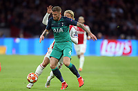 Toby Alderweireld of Tottenham Hotspur and Kasper Dolberg of Ajax during AFC Ajax vs Tottenham Hotspur, UEFA Champions League Football at the Johan Cruyff Arena on 8th May 2019