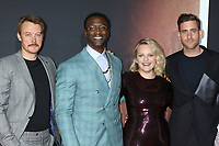 """LOS ANGELES - FEB 24:  Michael Dorman, Aldis Hodge, Elisabeth Moss, and Oliver Jackson-Cohen at the """"The Invisible Man"""" Premiere at the TCL Chinese Theater IMAX on February 24, 2020 in Los Angeles, CA"""