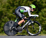 Benjamin King (USA) Team Dimension Data in action during Stage 16 of the La Vuelta 2018, an individual time trial running 32km from Santillana del Mar to Torrelavega, Spain. 11th September 2018.                   <br /> Picture: Colin Flockton | Cyclefile<br /> <br /> <br /> All photos usage must carry mandatory copyright credit (&copy; Cyclefile | Colin Flockton)