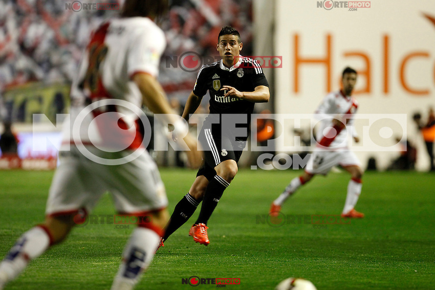 James of Real Madrid during La Liga match between Rayo Vallecano and Real Madrid at Vallecas Stadium in Madrid, Spain. April 08, 2015. (ALTERPHOTOS/Caro Marin) /NORTEphoto.com
