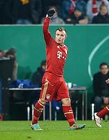 FUSSBALL  DFB-POKAL  ACHTELFINALE  SAISON 2012/2013    FC Augsburg - FC Bayern Muenchen        18.12.2012 Jubel nach dem Tor zum 0:2 Xherdan Shaqiri (FC Bayern Muenchen)