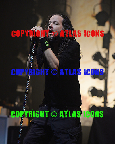 MIAMI BEACH FL - OCTOBER 16: Jonathan Davis of Korn performs at The Fillmore on October 16, 2015 in Miami Beach, Florida. Credit Larry Marano © 2015