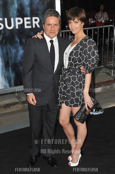 "Brad Grey & wife at the Los Angeles premiere of ""Super 8"" at the Regency Village Theatre, Westwood..June 8, 2011  Los Angeles, CA.Picture: Paul Smith / Featureflash"