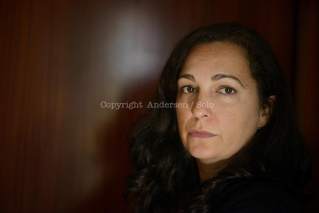 Berta Marse, Spanish writer, at home in Barcelona, January 2013.