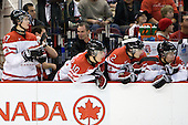 Cody Goloubef (Canada - 17), Alex Pietrangelo (Canada - 10), Colten Teubert (Canada - 2), Tyler Myers (Canada - 3) - Team Canada defeated the Czech Republic 8-1 on the evening of Friday, December 26, 2008, at Scotiabank Place in Kanata (Ottawa), Ontario during the 2009 World Juniors U20 Championship.