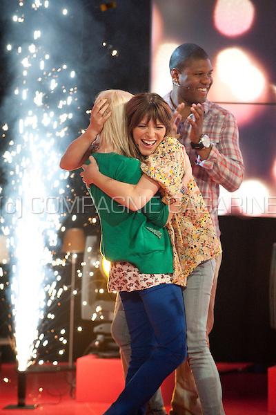 "Charlotte Leysen winning the Ketnet ""Wie wordt wrapper"" contest in the liveshow (Belgium, 23/04/2011)"