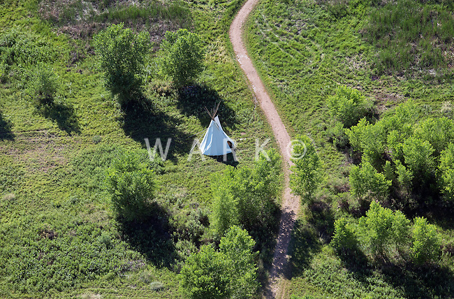 TeePee at Bent's Fort, LaJunta, Colorado. July 2014. 86540