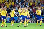 Zlatan Ibrahimovic celberates his 1-0 goal against Greece at Euro 2008. Greece-Sweden 06102008, Salzburg, Austria