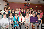 LEAVING: Teachers from Presentation Primary School, Tralee who held a reception in The Station House, Blennerville on Friday night for Mary Griffin who is leaving the school to take up a new post in teaching in Glenderry National School, Ballyheigue. (Mary is seated 3rd from left.)................................. ....