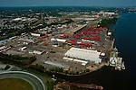 Aerial view of M/V South Hampton Star at Penn Terminal