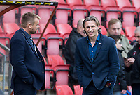 Wycombe Wanderers Manager Gareth Ainsworth & Wycombe Wanderers Chairman Andrew Howard ahead of the Sky Bet League 2 match between Leyton Orient and Wycombe Wanderers at the Matchroom Stadium, London, England on 1 April 2017. Photo by Andy Rowland.