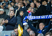 Leicester City owner Vichai Srivaddhanaprabha (left) during the UEFA Champions League QF 2nd Leg match between Leicester City and Atletico Madrid at the King Power Stadium, Leicester, England on 18 April 2017. Photo by Andy Rowland.