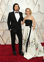 09 February 2020 - Hollywood, California - Adam Driver, Joanne Tucker. 92nd Annual Academy Awards presented by the Academy of Motion Picture Arts and Sciences held at Hollywood & Highland Center. Photo Credit: AdMedia