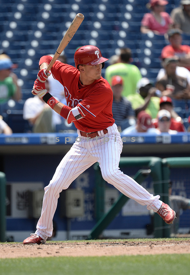 Philadelphia Phillies Tyler Goeddel (2) during a game against the Arizona Diamondbacks on June 20, 2016 at Citizens Bank Park in Philadelphia, PA. The Diamondbacks beat the Phillies 3-1.