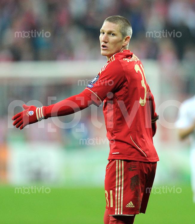 FUSSBALL   CHAMPIONS LEAGUE   SAISON 2011/2012   ACHTELFINALE RUECKSPIEL     13.03.2012 FC Bayern Muenchen - FC Basel        Bastian Schweinsteiger (FC Bayern Muenchen)