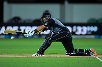 New Zealand's Ross Taylor bats during the 4th Twenty20 International cricket match between NZ Black Caps and England at McLean Park in Napier, New Zealand on Friday, 8 November 2019. Photo: Dave Lintott / lintottphoto.co.nz