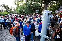 SARATOGA SPRINGS, NY - AUGUST 26: Fans line up outside to get into Saratoga Race Course for Travers Day on August 26, 2017 in Saratoga Springs, New York. (Photo by Alex Evers/Eclipse Sportswire/Getty Images)