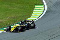 17th November 2019; Autodromo Jose Carlos Pace, Sao Paulo, Brazil; Formula One Brazil Grand Prix, Race Day; Daniel Ricciardo (AUS) Renault Sport F1 Team RS19 - Editorial Use