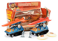 BNPS.co.uk (01202 558833)<br /> Pic: Vectis/BNPS<br /> <br /> PICTURED: Matchbox Super Kings Adventure 2000 Shuttle Launchers <br /> <br /> One man's epic collection of retro eighties' toys has been sold for £220,000 by his family following his death.<br /> <br /> Dr Cornel Flemming amassed more than 1,600 toy action figures and cars for franchises like Star Wars, He-Man and Transformers. <br /> <br /> The market for nostalgic toys is booming at the moment which is reflected in the prices some of the toys achieved.<br /> <br /> An unopened pack of three He-Man figures featuring He-Man, Teela and Ram Man made by Mettel sold for an incredible £12,000.