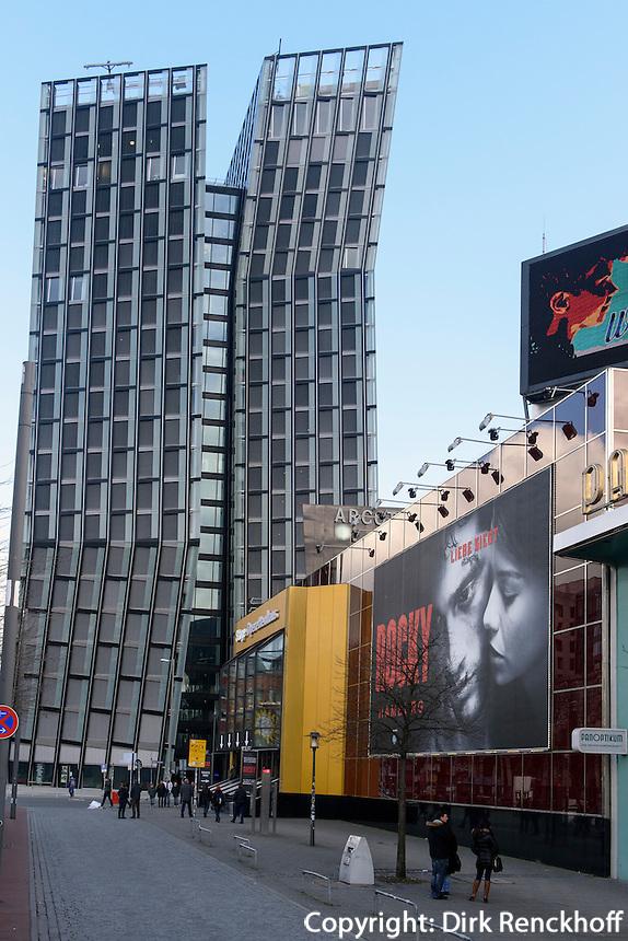 Rocky im Stage-Oprettenhaus und tanzende Türme, Spielbudenplatz 1  in Hamburg St.Pauli, Deutschland