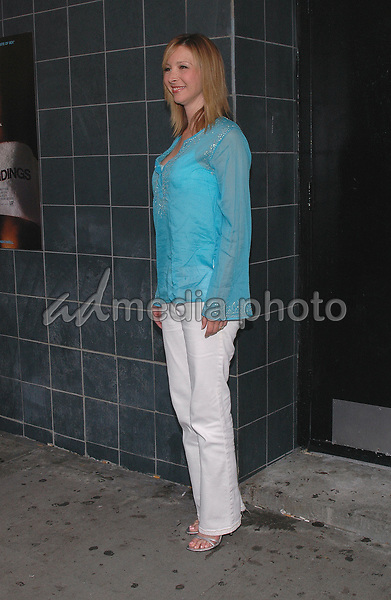 12 July 2005 - New York, New York - Lisa Kudrow arrives at the premier of her new film, &quot;Happy Endings&quot; at the Chelsea Clearview Theater in Manhattan.<br />