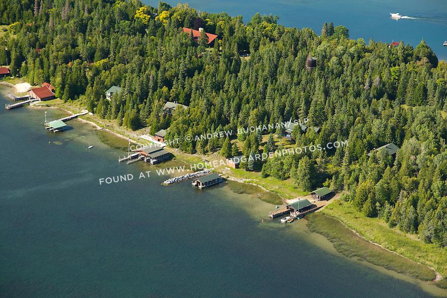 Les Cheneaux Club on Marquette Island in Les Cheneaux Area of Lake Huron near Cedarville, MI