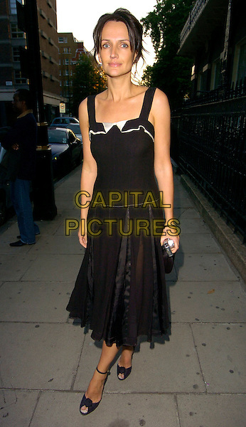 SAFFRON ALDRIDGE.The Tatler Summer Party, Home House, London, UK..June 29th, 2006.Ref: CAN.full length black dress.www.capitalpictures.com.sales@capitalpictures.com.©Capital Pictures