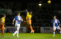 Anthony Stewart of Wycombe Wanderers heads towards goal during the Sky Bet League 2 rearranged match between Bristol Rovers and Wycombe Wanderers at the Memorial Stadium, Bristol, England on 1 December 2015. Photo by Andy Rowland.