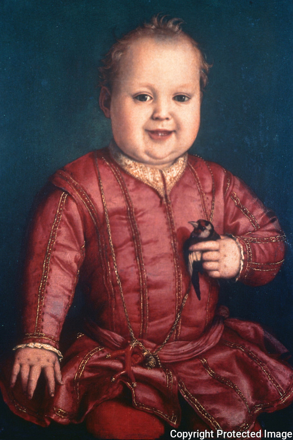 Paintings:  Bronzino--Don Garzia de' Medici.  Galleria Uffizi, Florence.  Reference only.