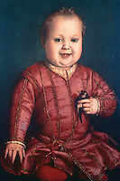 Paintings:  Bronzino--Don Garzia de' Medici.  Galleria Uffizi, Florence.  Reference only.