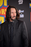 "LOS ANGELES, USA. June 12, 2019: Keanu Reeves at the world premiere of ""Toy Story 4"" at the El Capitan Theatre.<br /> Picture: Paul Smith/Featureflash"