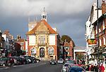 Historic Town Hall building in Marlborough, Wiltshire, England