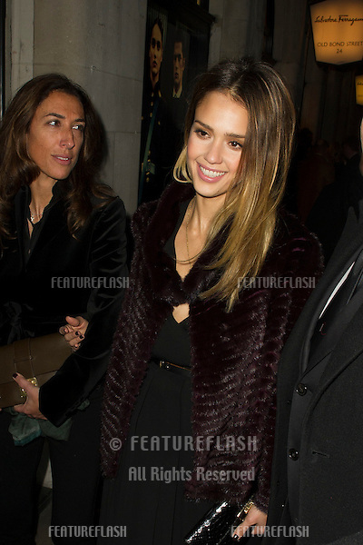 Jessica Alba arriving for the Salvatore Ferragamo London Flagship Store Launch Party, Old Bond Street,  London. 05/12/2012 Picture by: Simon Burchell / Featureflash
