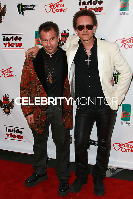 LOS ANGELES, CA, USA - OCTOBER 26: Joey Feldman, Billy Morrison arrive at An Evening Of Art With Billy Morrison And Joey Feldman Benefiting The Rock Against MS Foundation held at Village Studios on October 26, 2014 in Los Angeles, California. (Photo by David Acosta/Celebrity Monitor)