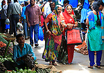 Woman shopping  at  Devaraja Market in Mysore