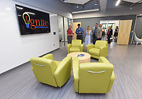 NWA Democrat-Gazette/FLIP PUTTHOFF <br /> Guests on Wednesday Aug. 7 2019 tour the building during the opening of Ignite professional studies program in Bentonville. Ignite high school students hone their skills in a number of career fields.