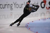 SCHAATSEN: HEERENVEEN: Thialf, Essent ISU World Cup, 04-03-2012, 1000m Men, Shani Davis (USA) wins in 1,08,88, ©foto: Martin de Jong