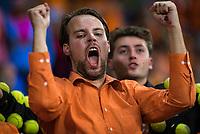 The Hague, The Netherlands, September 15, 2017,  Sportcampus , Davis Cup Netherlands - Chech Republic, First Rubber: Dutch supporter<br /> Photo: Tennisimages/Henk Koster