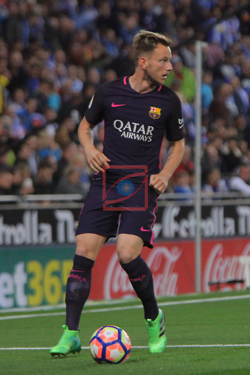 League Santander 2016/2017. Game: 35.<br /> RCD Espanyol vs FC Barcelona: 0-3.<br /> Ivan Rakitic.