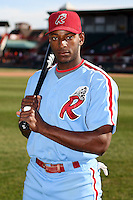 May 29th 2008:  Greg Golson of the Reading Phillies, Class-AA affiliate of the Philadelphia Phillies, during a game at Jerry Uht Park in Erie, PA.  Photo by:  Mike Janes/Four Seam Images