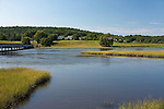Village of Alna along the Sheepscot River, Knox County, Maine, USA