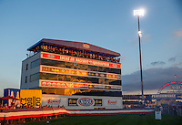 Sep 2, 2016; Clermont, IN, USA; General view of the timing tower and suites during NHRA qualifying for the US Nationals at Lucas Oil Raceway. Mandatory Credit: Mark J. Rebilas-USA TODAY Sports