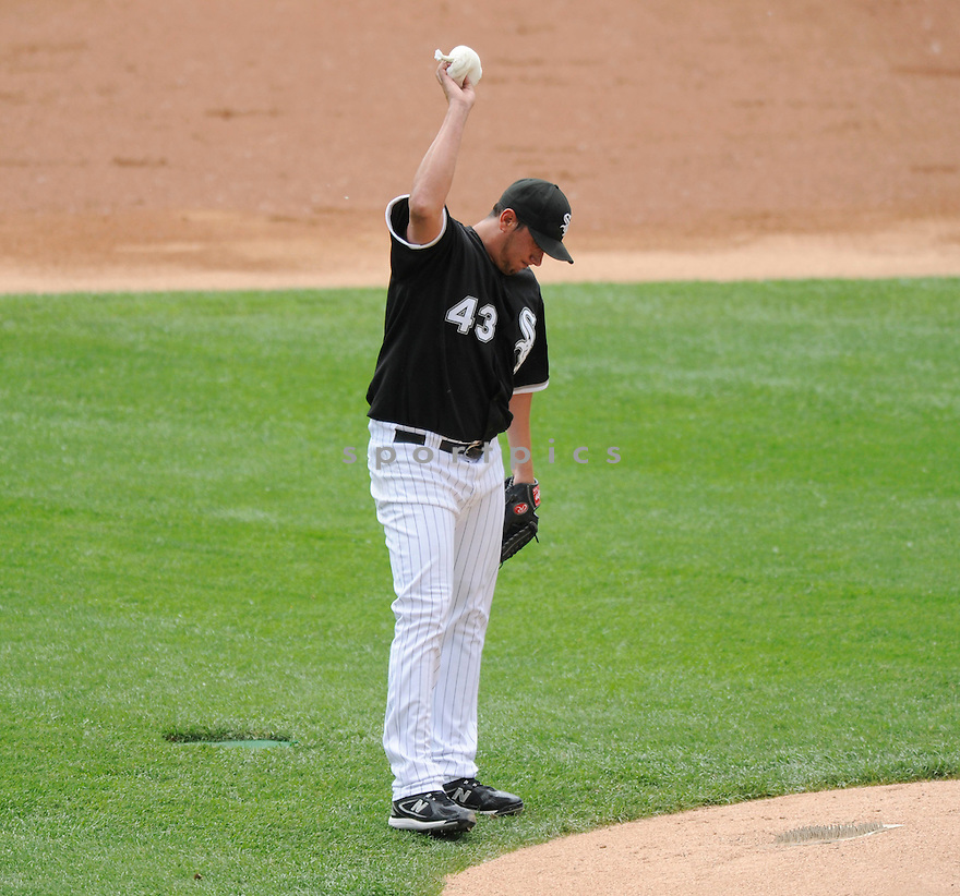 FREDDY GARCIA, of the Chicago White Sox in action during the  White Sox game against the Florida Marlins  at US Cellular Field in Chicago, IL  on May 23, 2010...The Florida Marlins  win 13-0.