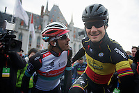 Ronde van Vlaanderen 2013..Tom Boonen (BEL) & Fabian Cancellara (CHE) at the start