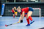 ROTTERDAM  - NK Zaalhockey,   halve finale dames Laren-Den Bosch. Laren wint. Lieke van Wijk (Lar)    COPYRIGHT KOEN SUYK