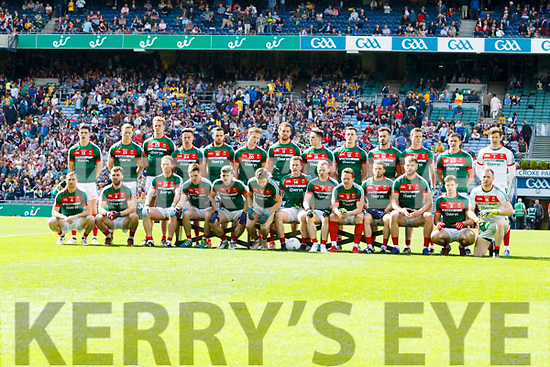 The Mayo team in All Ireland Senior Football Quarter Final with Roscommon at Croke Park on Sunday.
